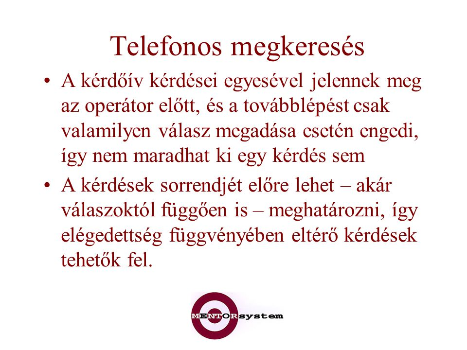 Telefonos megkeresés