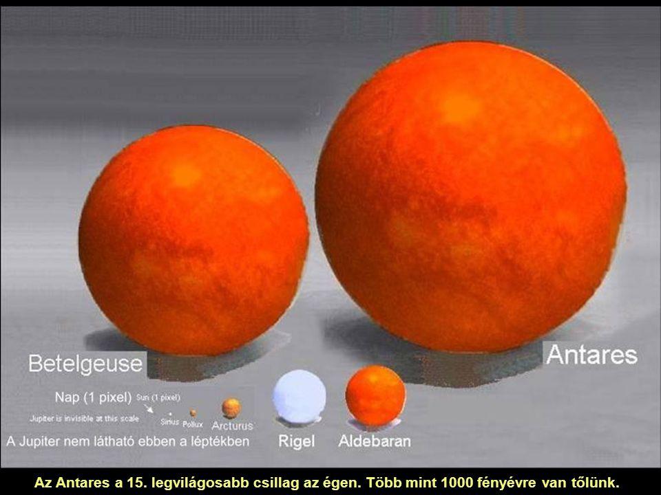 Az Antares a 15. legvilágosabb csillag az égen