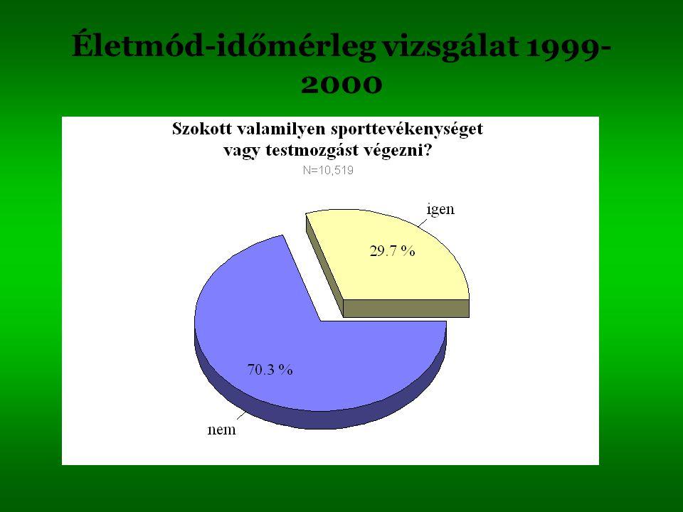 Életmód-időmérleg vizsgálat 1999-2000