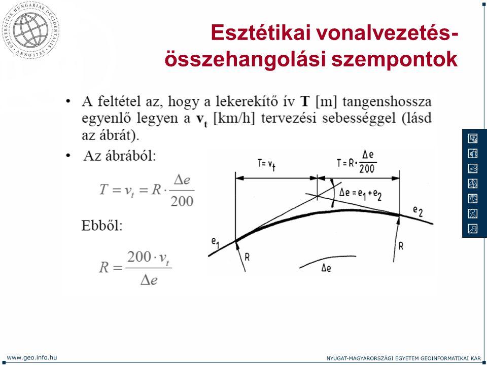 Esztétikai vonalvezetés- összehangolási szempontok