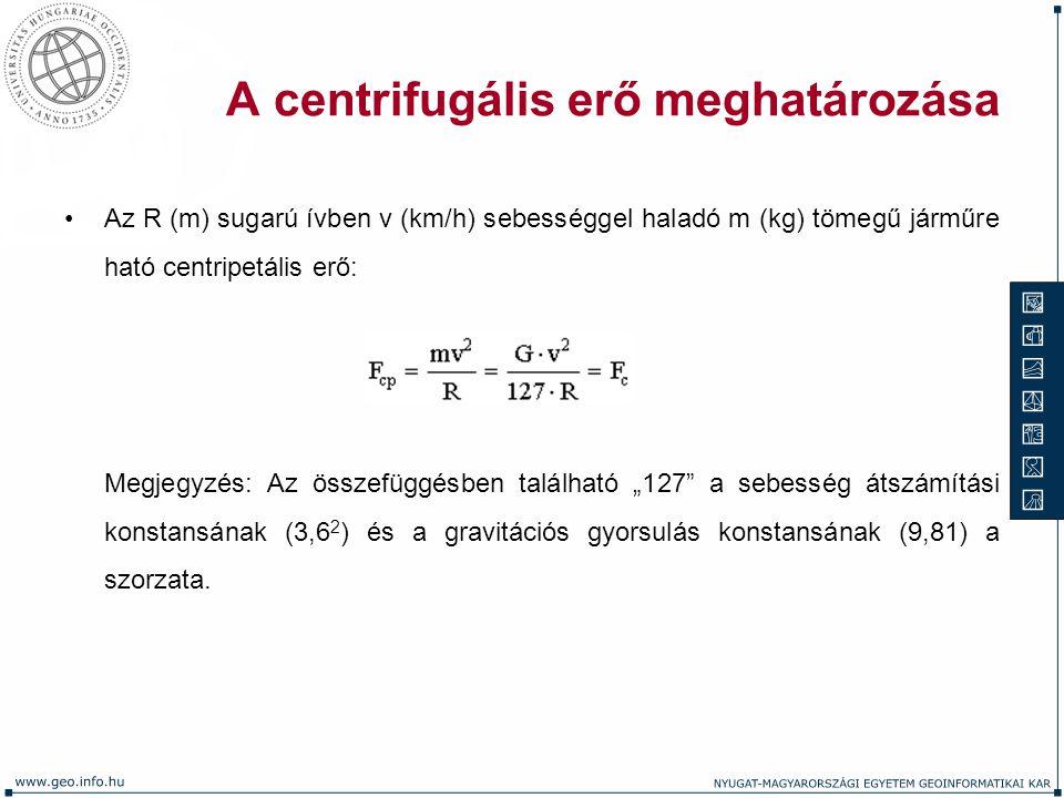 A centrifugális erő meghatározása
