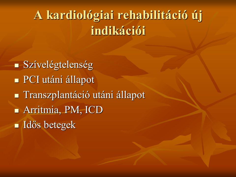 A kardiológiai rehabilitáció új indikációi