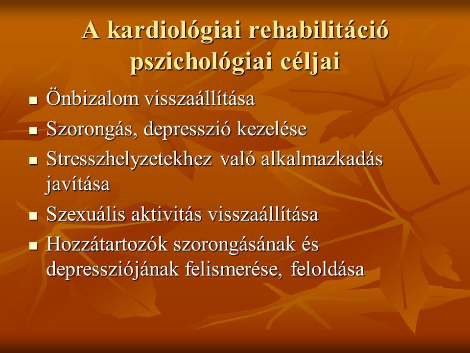 A kardiológiai rehabilitáció pszichológiai céljai
