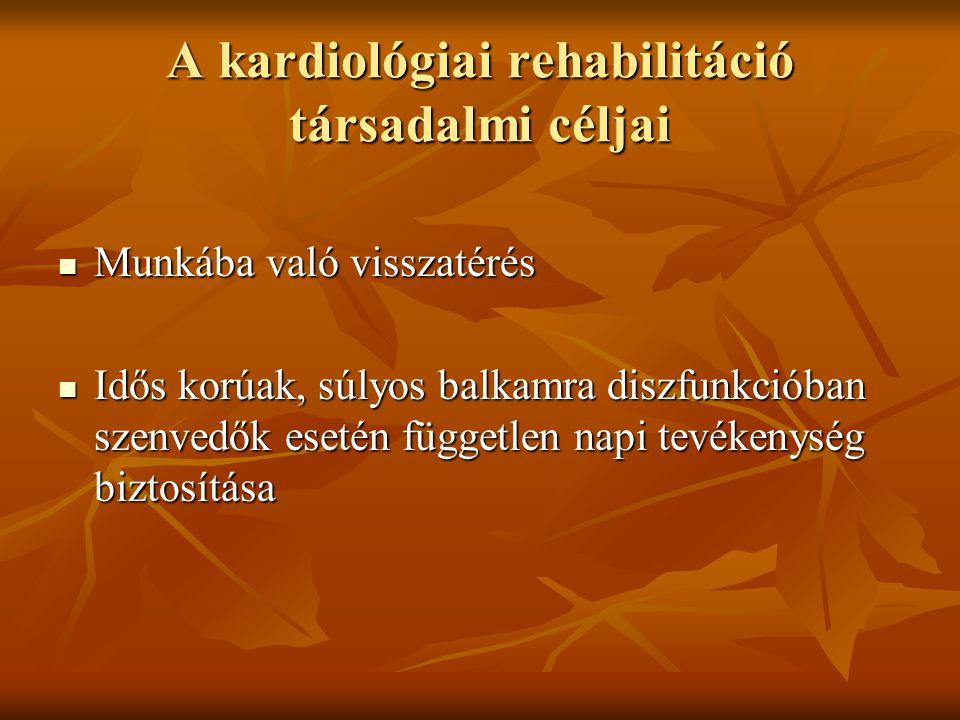 A kardiológiai rehabilitáció társadalmi céljai