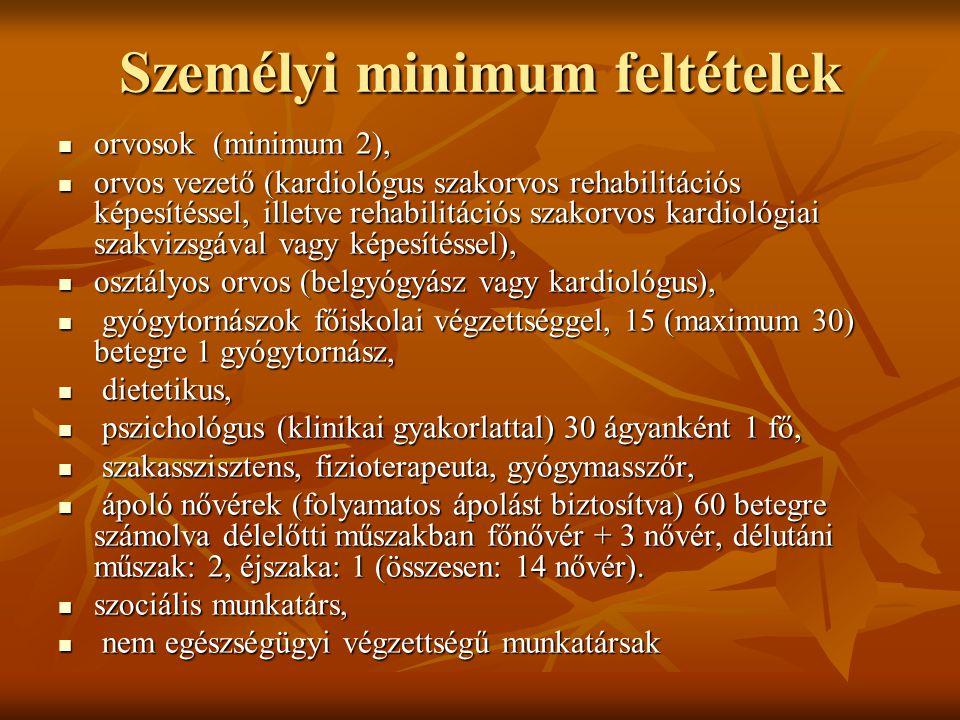 Személyi minimum feltételek