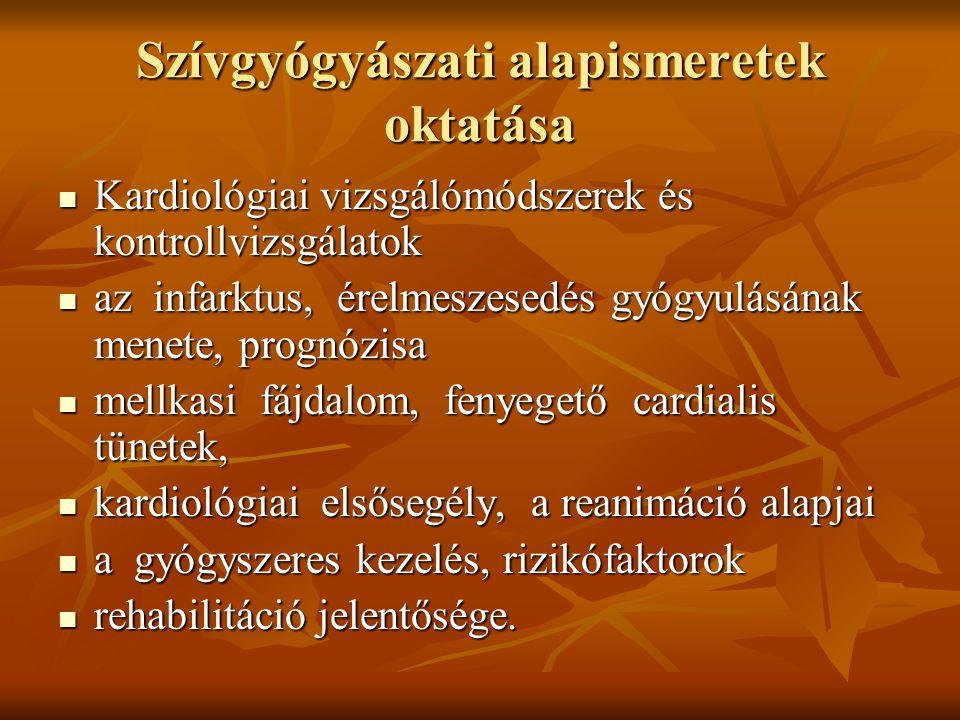 Szívgyógyászati alapismeretek oktatása