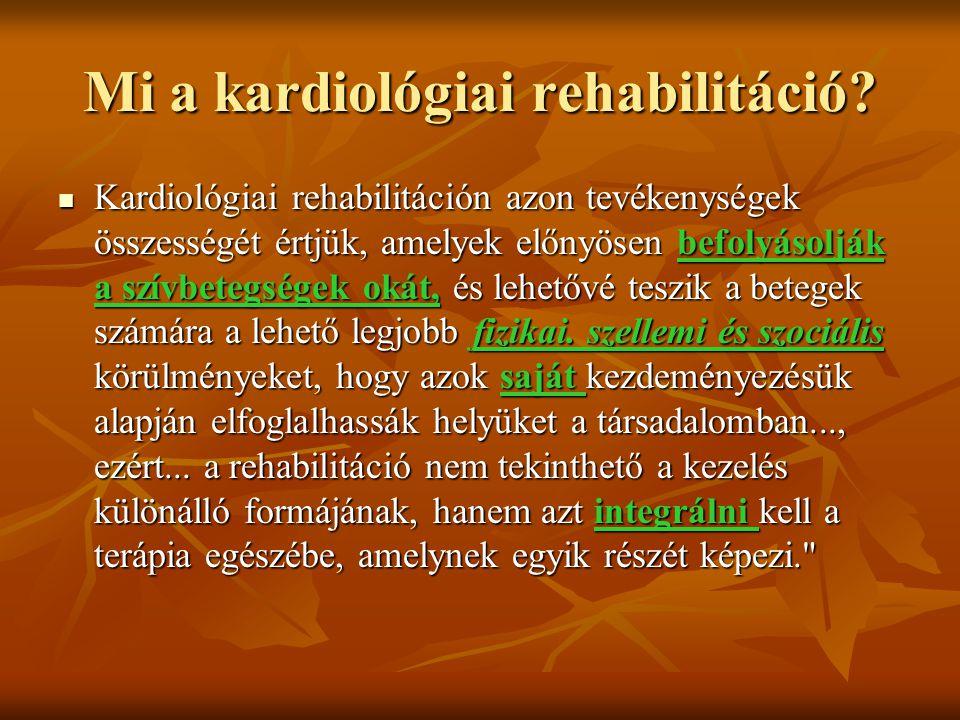 Mi a kardiológiai rehabilitáció