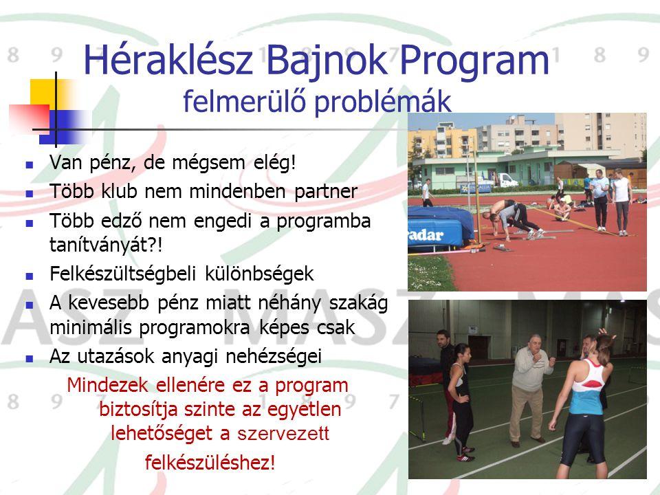 Héraklész Bajnok Program felmerülő problémák