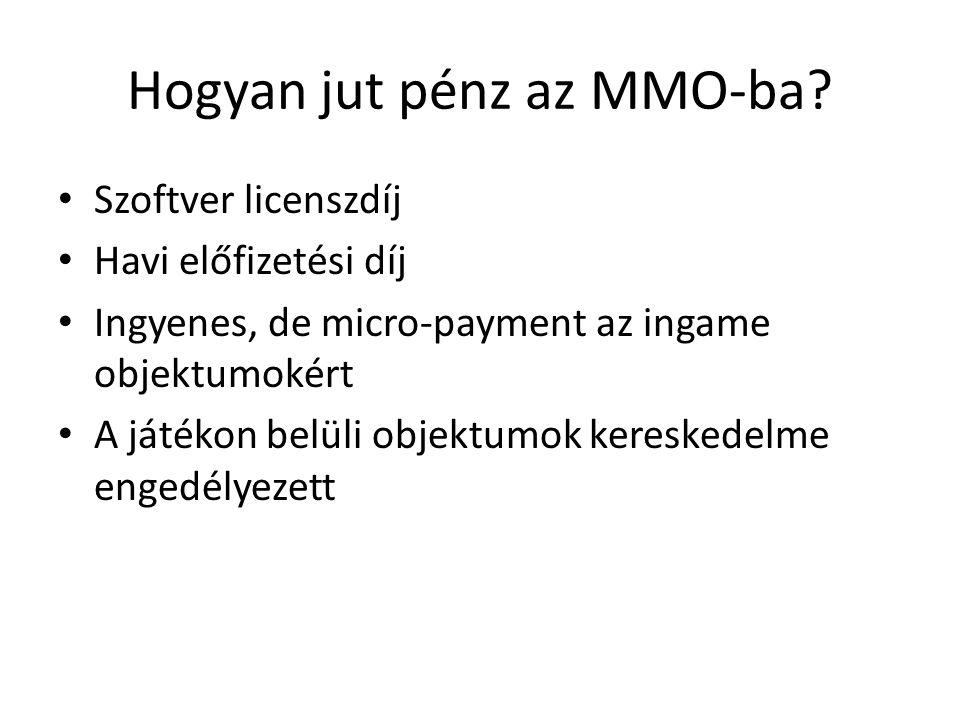 Hogyan jut pénz az MMO-ba