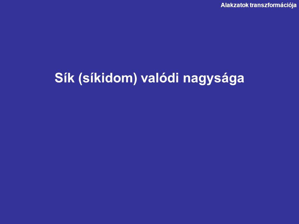 Sík (síkidom) valódi nagysága