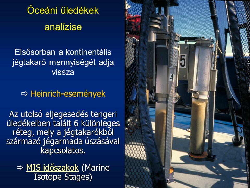 Óceáni üledékek analízise