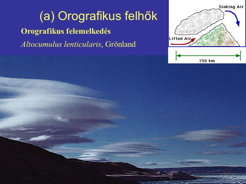 (a) Orografikus felhők