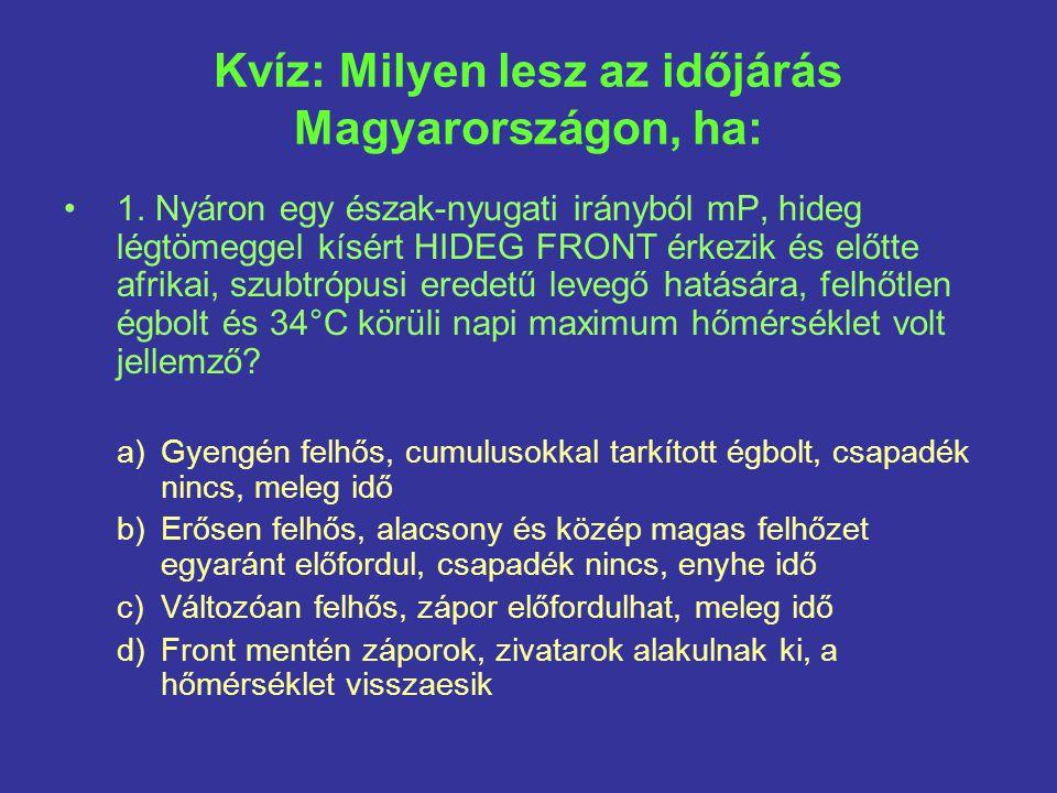 Kvíz: Milyen lesz az időjárás Magyarországon, ha: