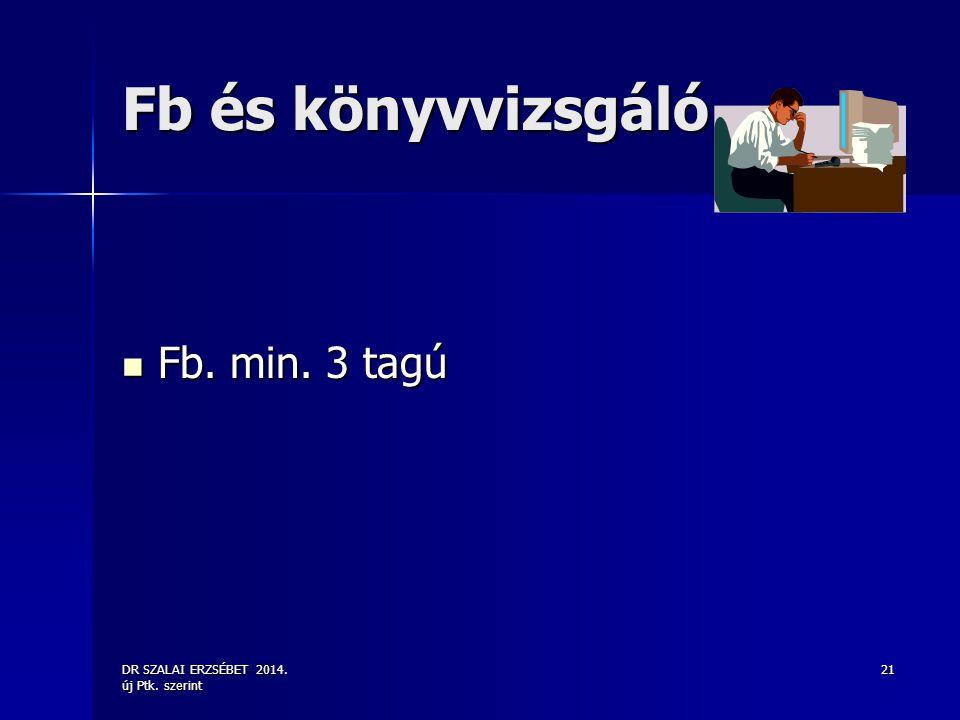 Fb és könyvvizsgáló Fb. min. 3 tagú