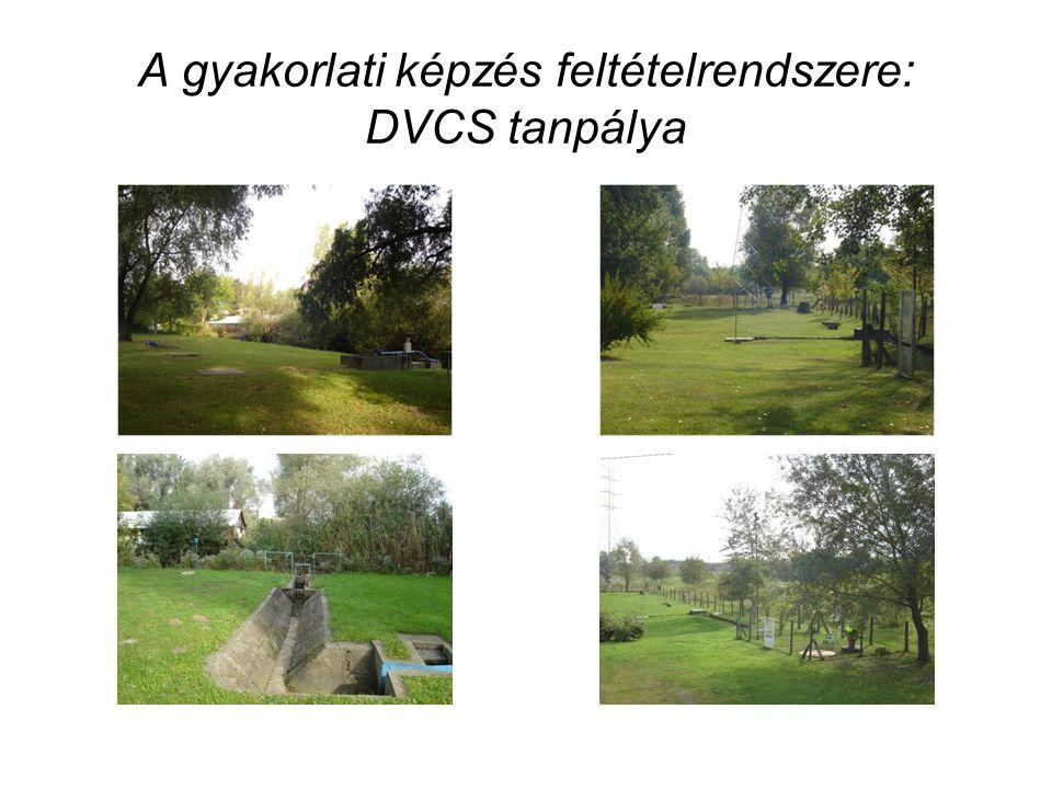 A gyakorlati képzés feltételrendszere: DVCS tanpálya