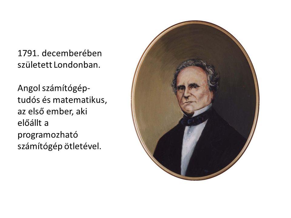 1791. decemberében született Londonban