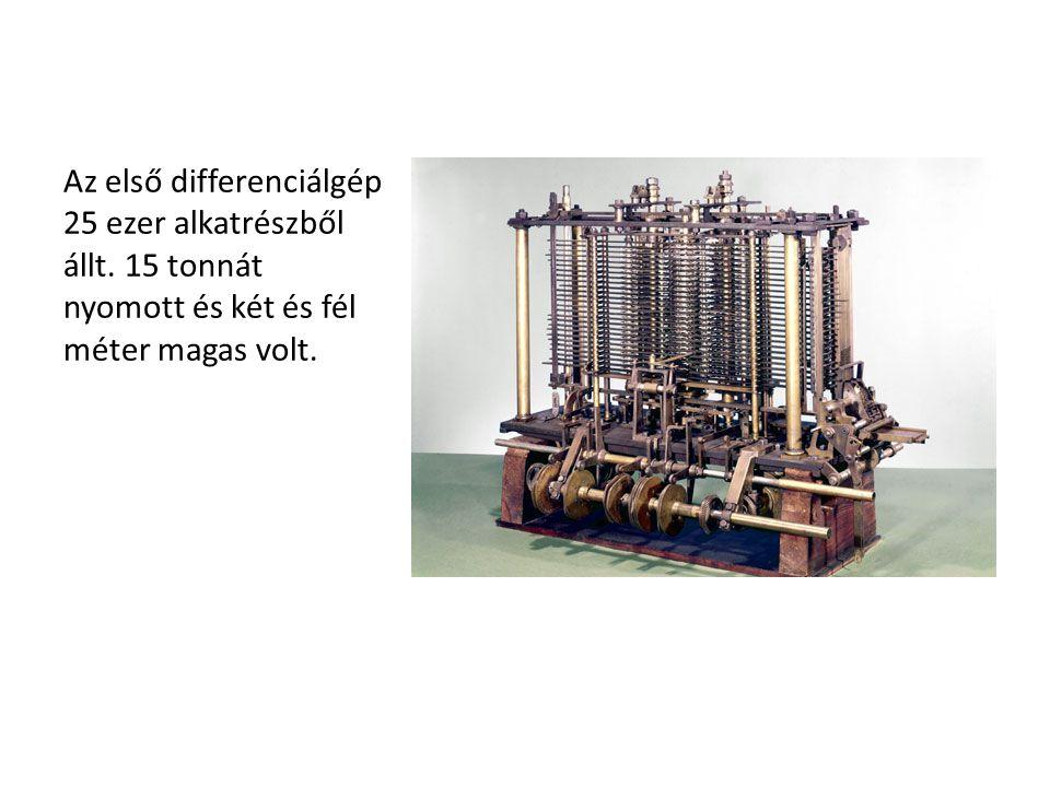 Az első differenciálgép 25 ezer alkatrészből állt