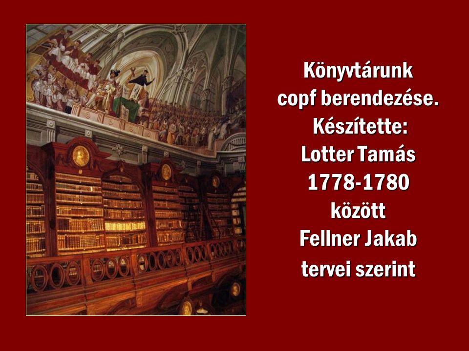 Könyvtárunk copf berendezése