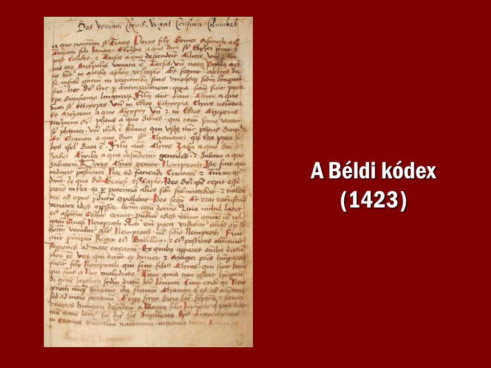A Béldi kódex (1423)