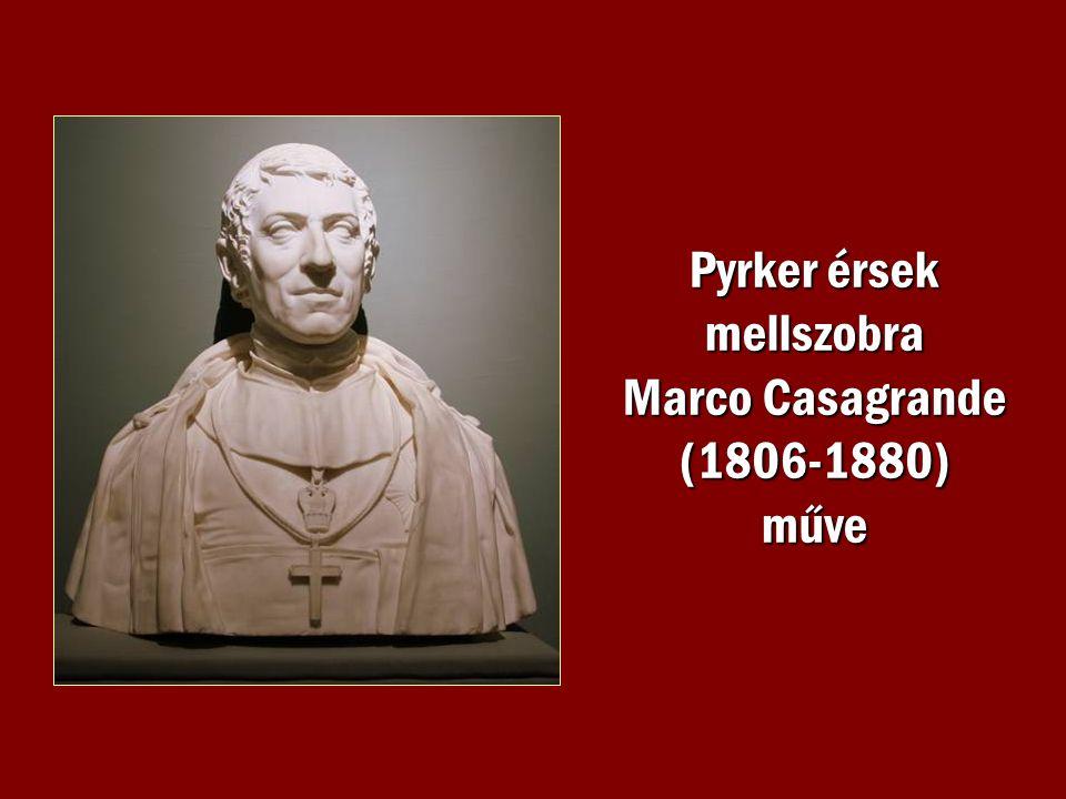 Pyrker érsek mellszobra Marco Casagrande (1806-1880) műve