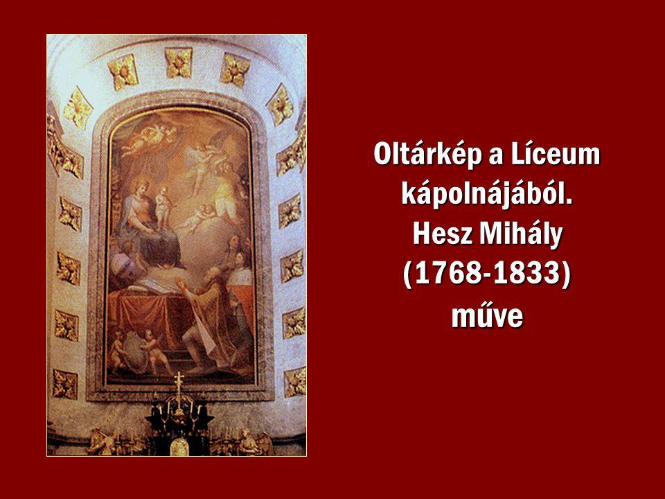 Oltárkép a Líceum kápolnájából. Hesz Mihály (1768-1833) műve