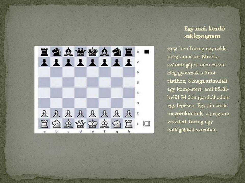 Egy mai, kezdő sakkprogram