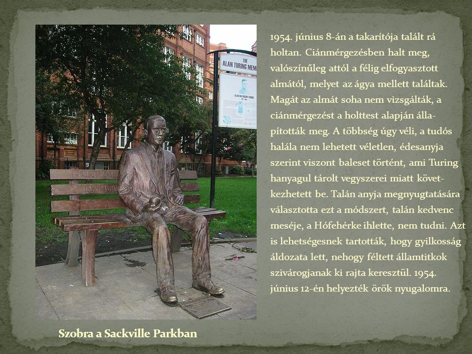 Szobra a Sackville Parkban