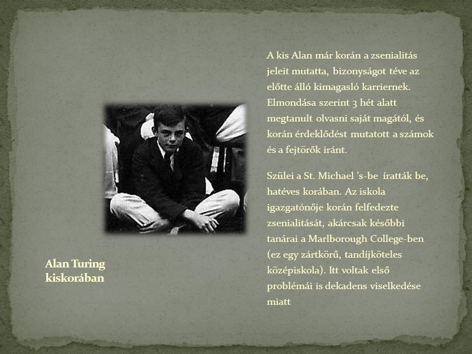 Alan Turing kiskorában