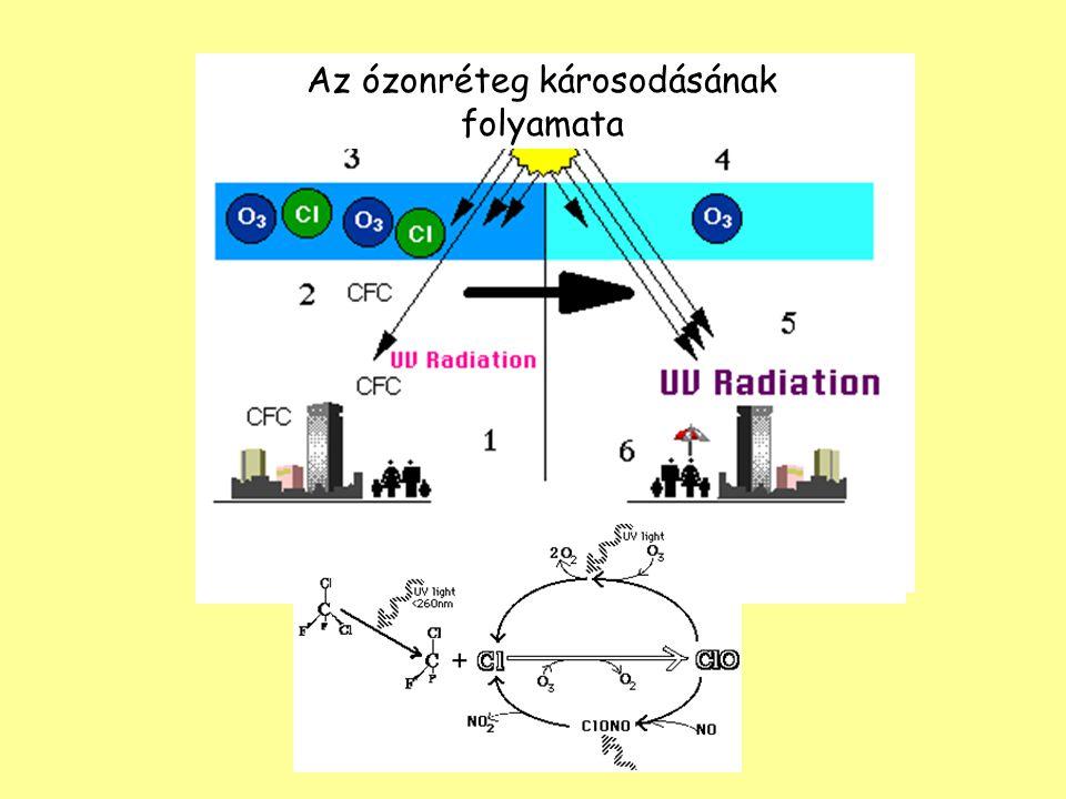 Az ózonréteg károsodásának folyamata