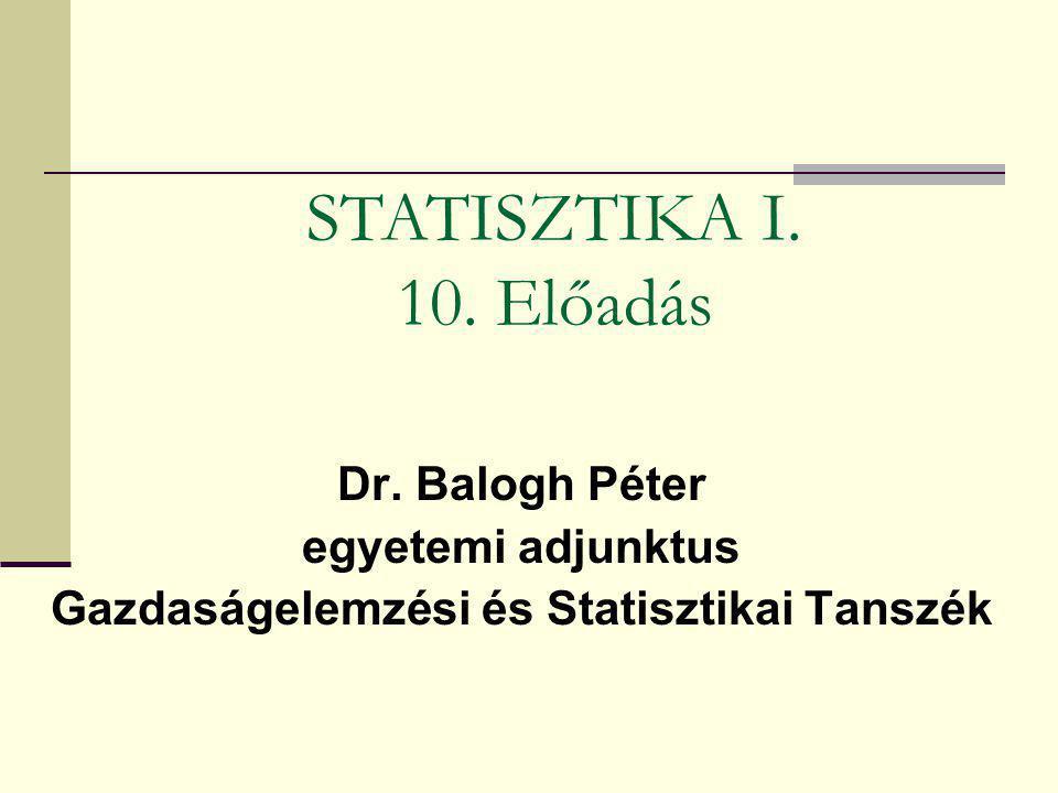 Gazdaságelemzési és Statisztikai Tanszék