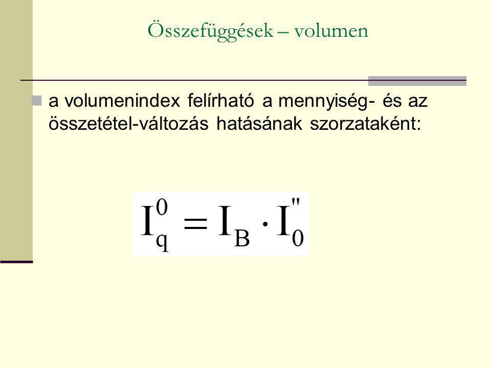 Összefüggések – volumen
