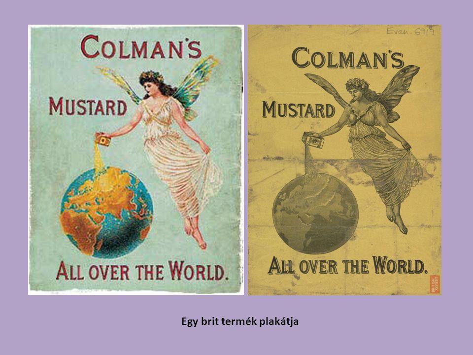 Egy brit termék plakátja