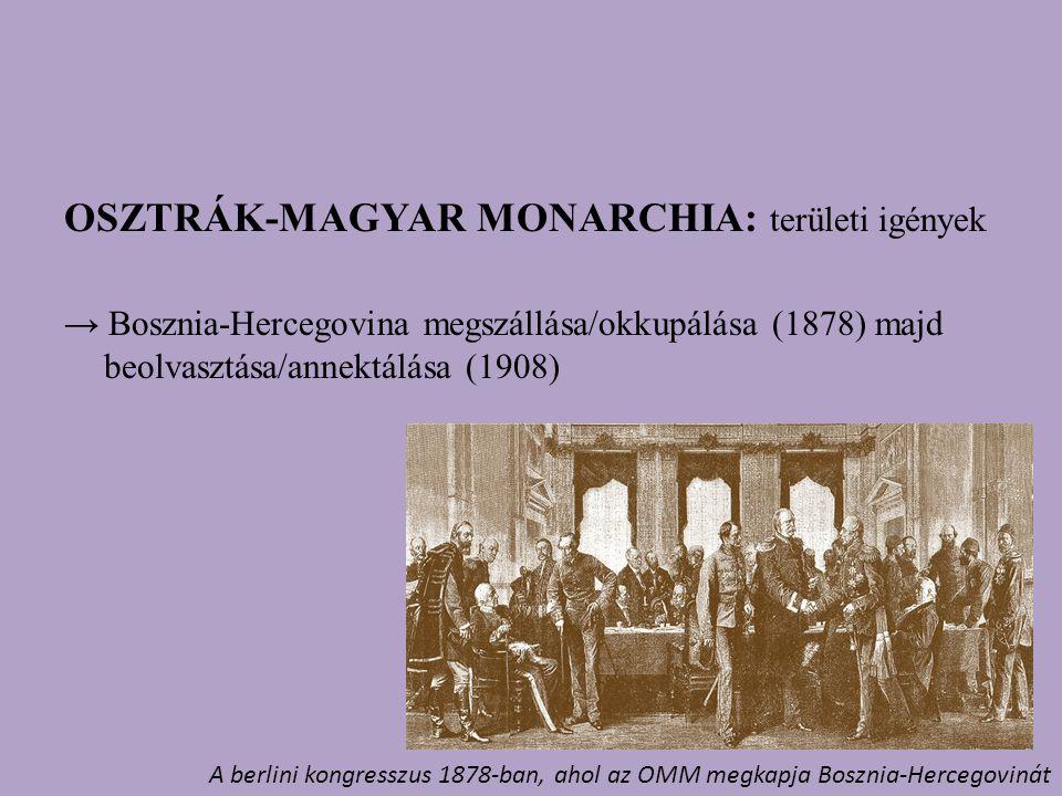 OSZTRÁK-MAGYAR MONARCHIA: területi igények