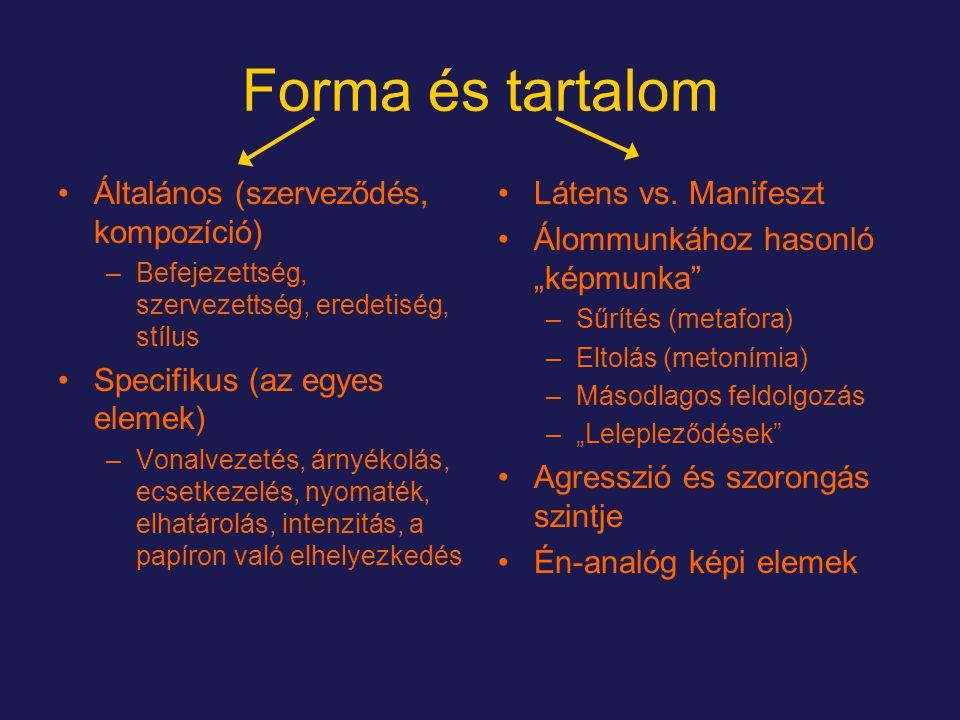 Forma és tartalom Általános (szerveződés, kompozíció)