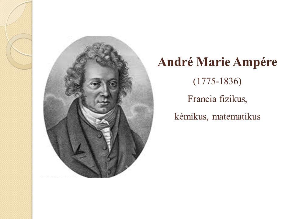 André Marie Ampére (1775-1836) Francia fizikus, kémikus, matematikus