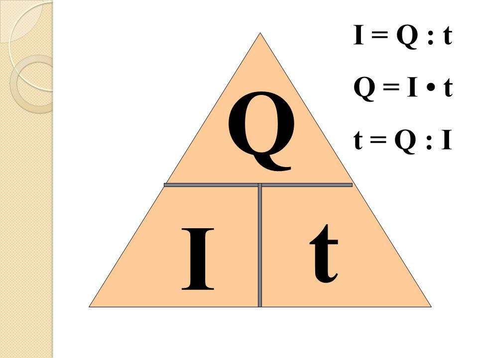 I = Q : t Q = I • t t = Q : I Q t I