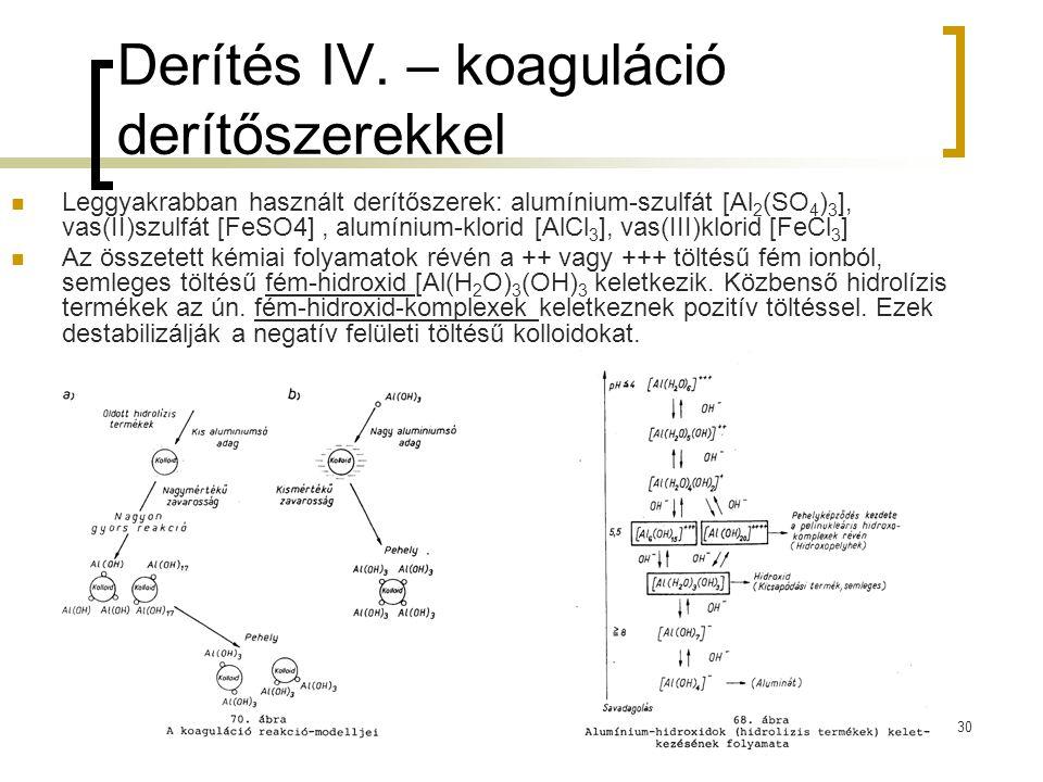 Derítés IV. – koaguláció derítőszerekkel