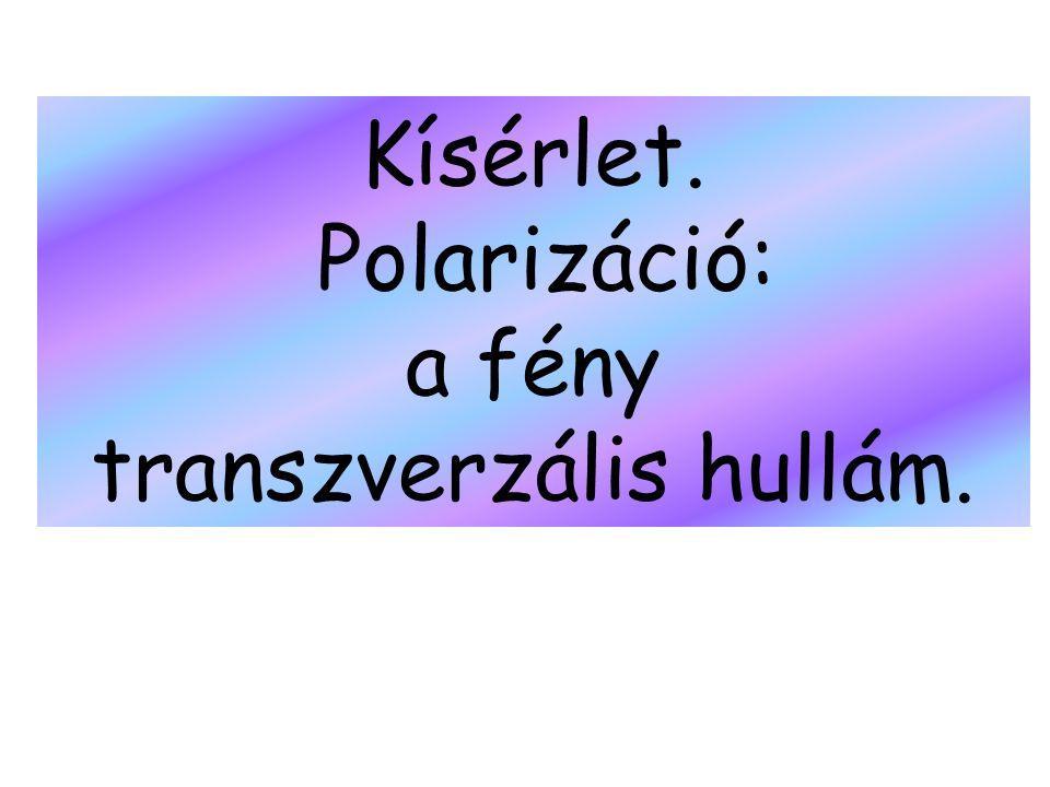 transzverzális hullám.