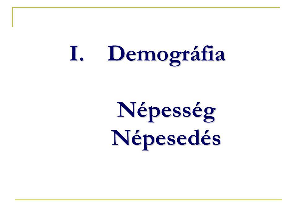 Demográfia Népesség Népesedés