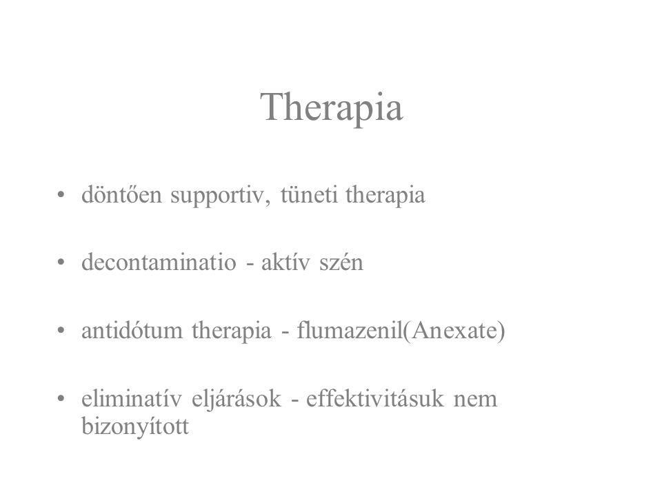 Therapia döntően supportiv, tüneti therapia