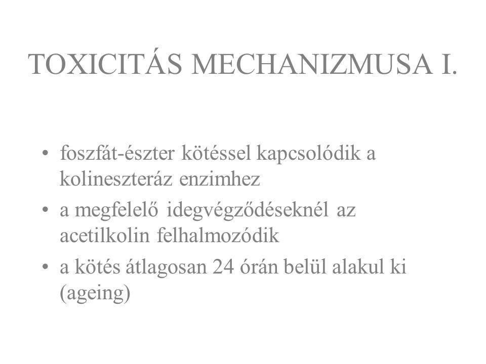 TOXICITÁS MECHANIZMUSA I.