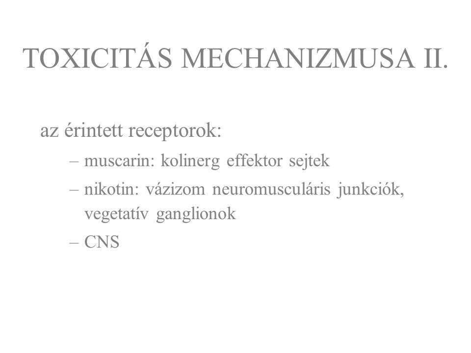 TOXICITÁS MECHANIZMUSA II.