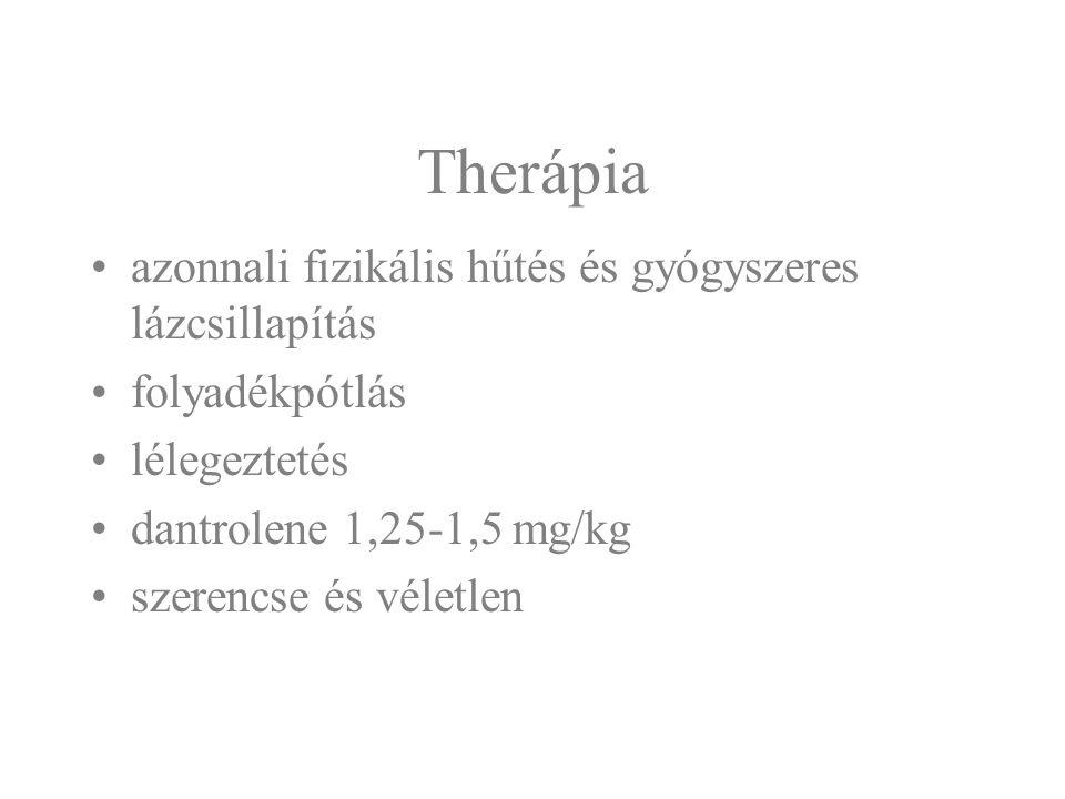 Therápia azonnali fizikális hűtés és gyógyszeres lázcsillapítás