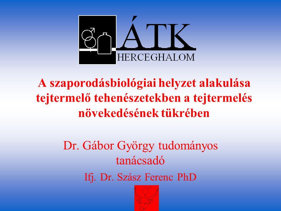 Dr. Gábor György tudományos tanácsadó Ifj. Dr. Szász Ferenc PhD