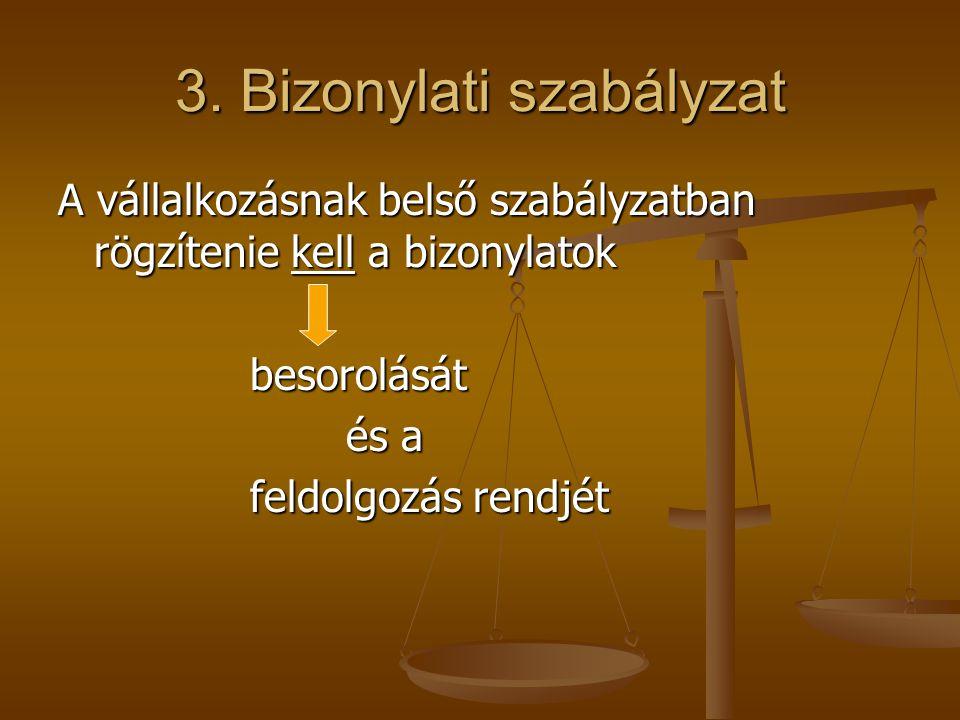3. Bizonylati szabályzat