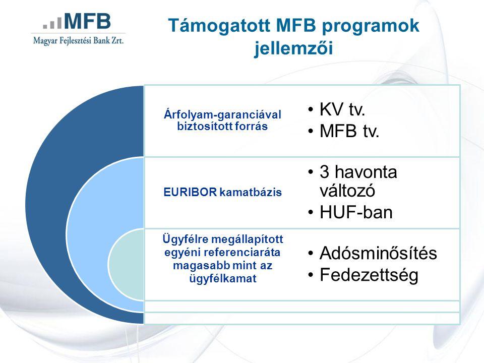 Támogatott MFB programok jellemzői