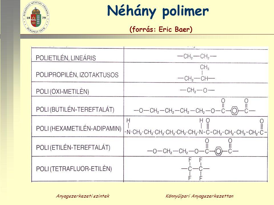 Néhány polimer (forrás: Eric Baer)