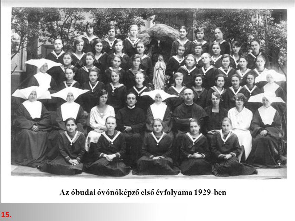 Az óbudai óvónőképző első évfolyama 1929-ben