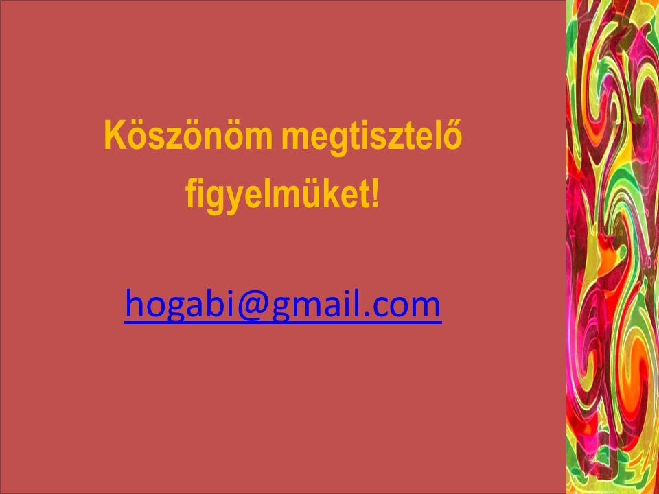 Köszönöm megtisztelő figyelmüket! hogabi@gmail.com