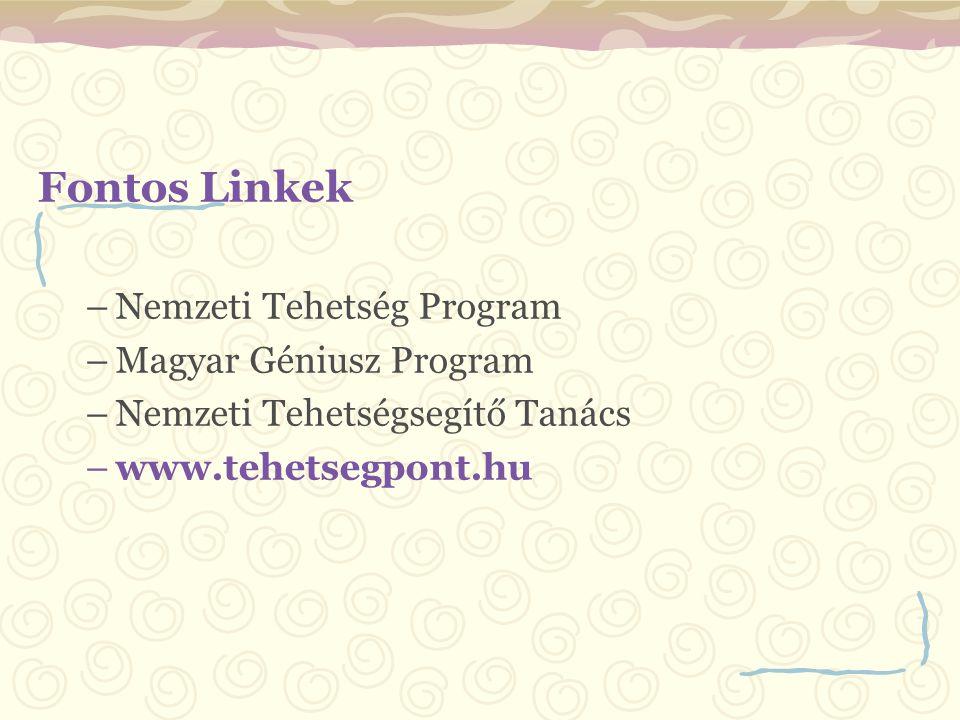 Fontos Linkek Nemzeti Tehetség Program Magyar Géniusz Program